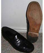 CLASSY ALFANI ITALY BLACK SOFT LEATHER DRESS SHOES--9  - $20.00