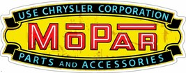 Mopar Chrysler Corporation Advertisement Inspired Plasma Cut Metal Sign - $49.95
