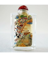 Antique Reverse Inside Painted Chinese Community Scenes Snuff Bottle 3.1... - $399.99