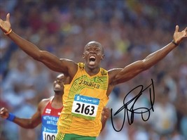 * Usain Bolt Signed Photo 8 X10 Rp Autographed 2016 Brazil Olympics * - $19.99