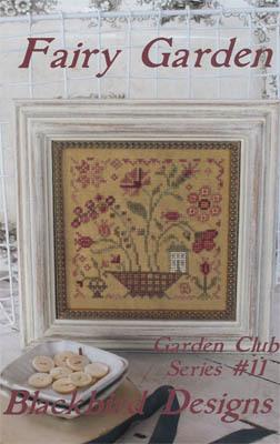 fairy garden 11 garden club series cross stitch blackbird