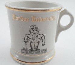1950s 1960s Purdue University Boilermakers Pete Mascot Porcelain Shaving... - £27.79 GBP