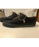 Ralph Lauren Polo Vaughn Men's Shoes Canvas Nylon Leather Black/ Size 7.5D - $24.75
