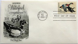 October 24, 1968 First Day of Issue, Fleetwood Cover, Waterfowl Conserva... - $1.78