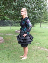 JULIE DUROCHE For After Five Party Dress Sequins 1980s - $140.00