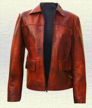 Hunger Games Katniss Everdeen Handmade Leather Jacket Brown Black all Ne... - $159.00