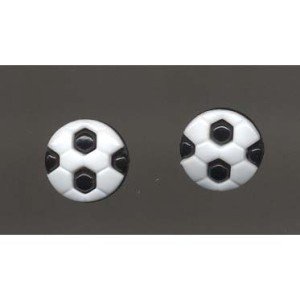 Soccer ball button post earrings