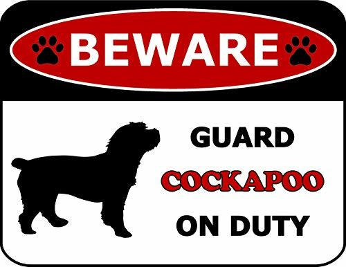 Primary image for Top Shelf Novelties Beware Guard Cockapoo On Duty (Silhouette) Laminated Dog Sig