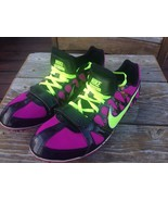 Nike Zoom Rival S 6 Volt Track Spikes Purple Neon Yellow Women 10.5 Runs... - $24.70