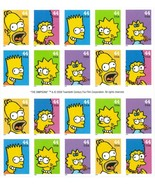 The Simpsons Booklet of 20 x 44 Cent Stamps Scott 4399-4403 - Stuart Katz - €13,99 EUR