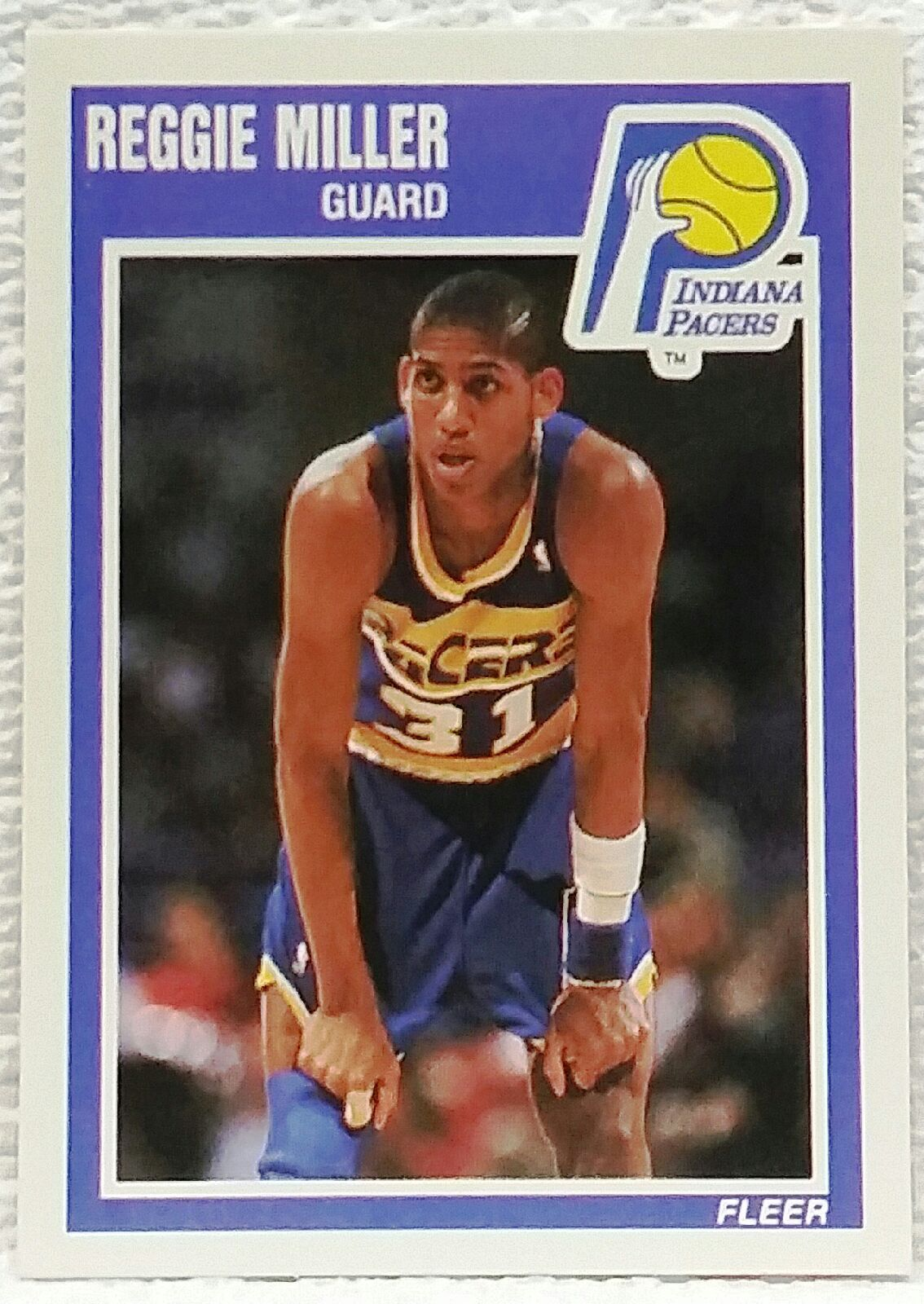 1989 Fleer #65 Reggie Miller, 9.5 Mint+, 2nd Year Card, Indiana Pacers