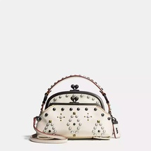Coach Black Copper/Chalk Western Rivets Triple ... - $679.99