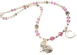 Initial Big Sister Personalized Necklace for Girls, Choose Colors and Charm image 2
