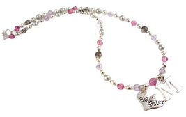 Initial Big Sister Personalized Necklace for Girls, Choose Colors and Charm - $35.00