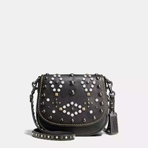 Coach Black Copper/Black Western Rivets Gloveta... - $629.99