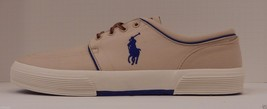 GENUINE POLO RALPH LAUREN MENS SIZE 17 D TAN BLUE BRUSHED COTTON FASHION... - $48.50