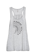 Thread Tank Chieftain War Bonnet Women's Sleeveless Flowy Racerback Tank... - $24.99+