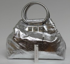 New Marc Jacobs Silver Cruise Leather Satchel Bag - $684.04