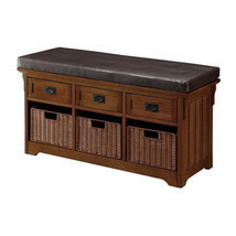 Storage Bench Hallway Entryway Organize Furniture Lobby Indoor Bedroom K... - $462.99