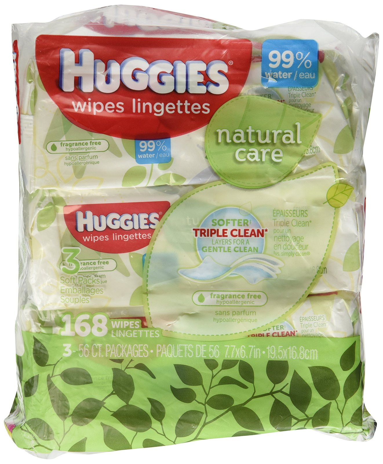Pack Of 16 Huggies Bundle Natural Care Unscented Baby Travel Wipes 16ct