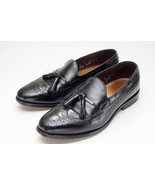 Allen Edmonds Manchester 8 Black Tassel Loafers Dress Shoes Mens - $158.00