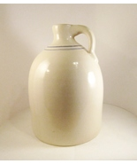 Marshall Pottery Gallon Jug, Handmade Texas Stoneware, Blue Stripe - $24.99