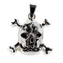 SKULL AND CROSSBONES PENDANT Pirate Jolly Roger Charm Jewelry Necklace H... - $110,76 MXN