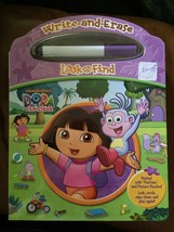 Write and Erase Look and Find Dora the Explorer 3+ Nickelodeon Book NEW WOT - $7.57