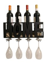 Gianna's Home Metal Wall Mounted Wine Rack and Cork Holder Home - $633,16 MXN