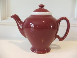 Vintage McCormick Tea Baltimore Md Teapot Burgundy Made in USA Tea Pot I... - $32.18