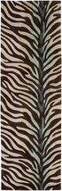 "2x8 (2'6"" x 8') Runner Zebra Animal Skin Contemporary Brown Plush Area Rug - $211.00"