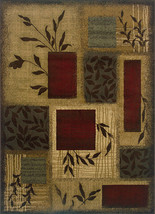10x13 Modern Contemporary Transitional Geometric Beige Red Area Rug - $449.00