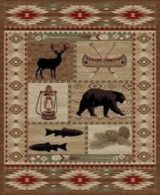 Lodge Cabin Southwestern Bear Deer Buck Area Rug *FREE SHIPPING* - $49.50+