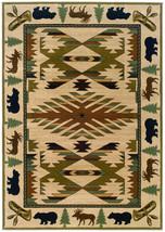 "4x6 (3'10""x5'5"") Lodge Cabin Southwestern Bear ... - $119.00"