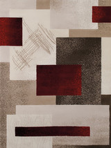 "5x8 (5'3"" x 7'2"") Modern Contemporary Transitional Geometric Red Area Rug - $99.00"