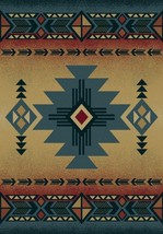 "5x8 (5'3"" x 7'6"")  Southwestern Lodge Cabin Rus... - $199.00"