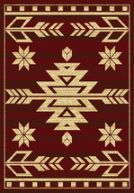 "5x8 (5'3"" x 7'2"") Southwestern Lodge Tribal Cabin Rustic Red Area Rug - $99.00"