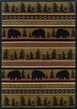 """7x10 (6'7"""" x 9'6"""") Lodge Cabin Rustic Bear Pine... - $299.00"""