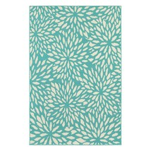 "7x10 (6'7"" x 9'6"" ) Contemporary Transitional Blue Indoor Outdoor Area Rug - $179.00"