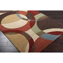5x8 Contemporary Modern Geometric Hand Tufted Wool Plush Area Rug - $369.00