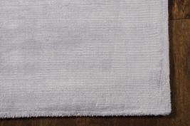 "5x8 (5'6"" x 7'5"") Calvin Klein Lunar Silky Silver Gray Hand Loomed Area Rug - $749.00"