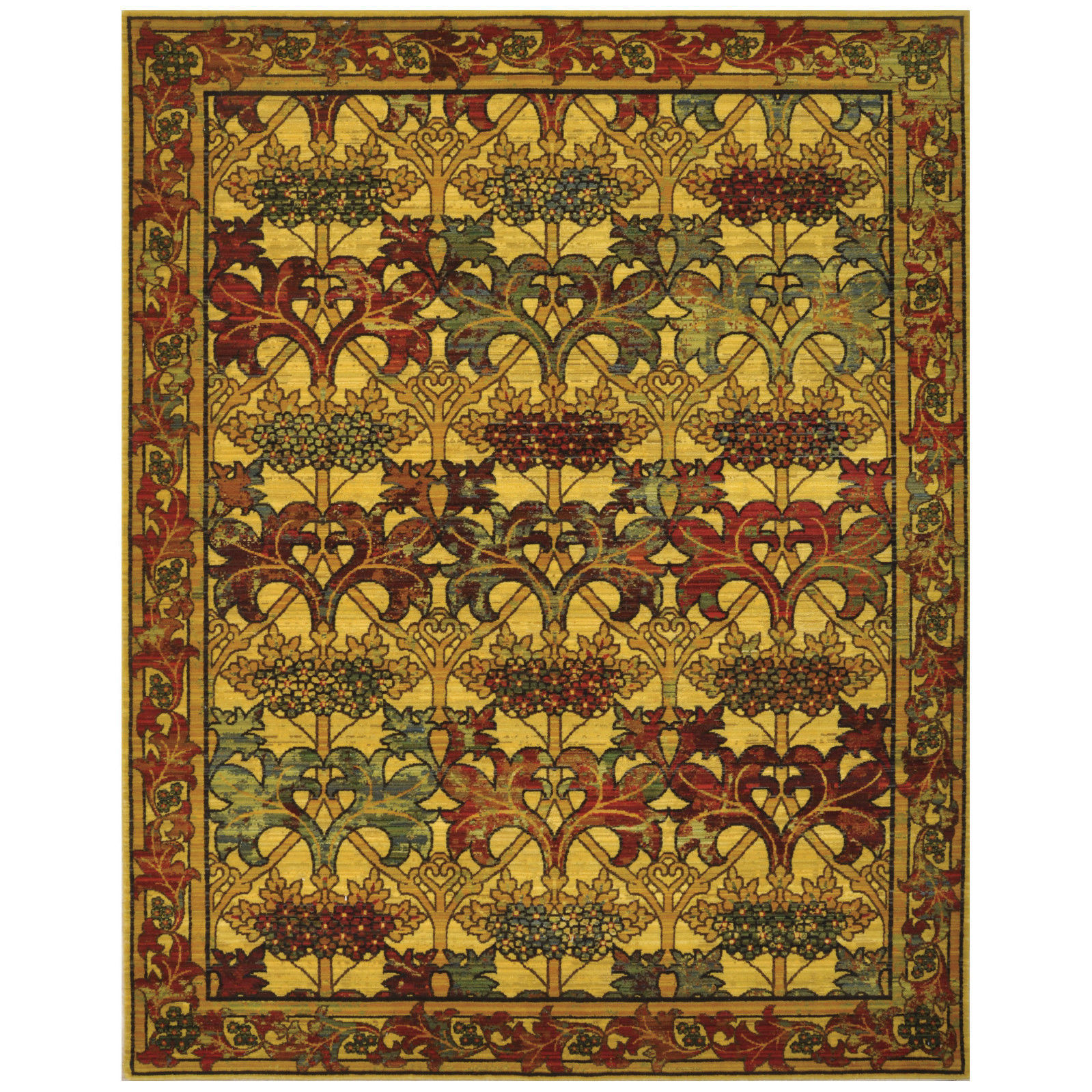 """Arts And Crafts Rugs Pottery Barn: 5x8 (5'6"""" X 8') Nourison Timeless Arts & Crafts Mission"""