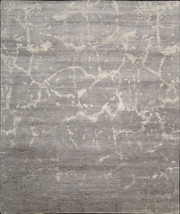 """9x12 (8'6"""" x 11'6"""") Hand Knotted Nourison Bamboo Silk Silver Modern Area... - $5,249.00"""
