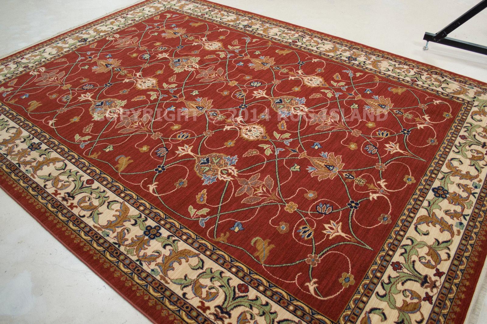 4x5 Karastan English Manor 2120 William Morris 00510 Red Wool Area Rug