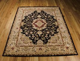 "8x10 (7'9"" x 9'9"") Nourison 2000 2028 Black Traditional Wool Silk Area Rug - $1,999.00"