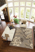 """8x11 (7'10"""" x 10'10"""") Stylish Modern Contemporary Floral Taupe Area Rug - €239,75 EUR"""