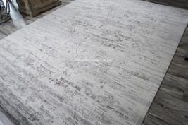 "5x8 (5'6"" x 8') Modern Contemporary Nourison Wool Silk Silver Gray Area Rug - $1,189.00"