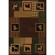 """8x11 (7'10"""" x 10'6"""" ) Designer Lodge Cabin Bear... - $399.00"""