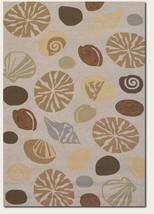 8x11 Designer Tropical Coastal Beach Sea Shells Beige Indoor Outdoor Are... - $599.00