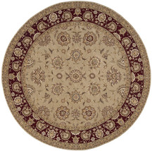 8' Round (8' x 8') Nourison 2000 2205 Camel Traditional Wool Silk Area Rug - $1,699.00